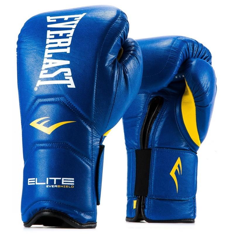 Перчатки тренировочные Everlast Elite Pro 14 oz синий P00000680 14 BL