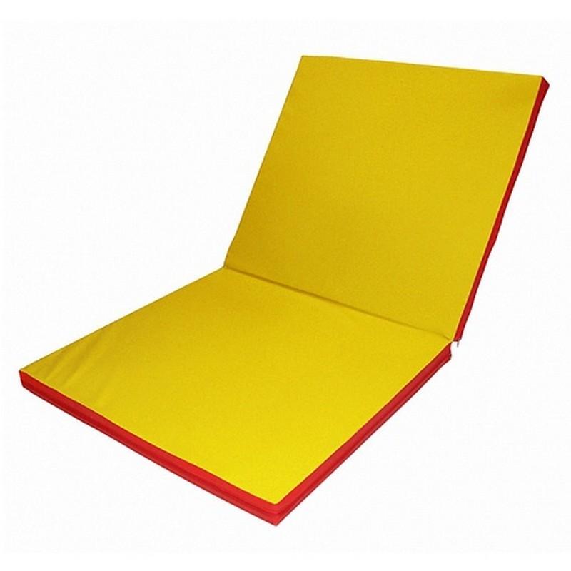 Мат гимнастический трансформер 2 сложения (1000x2000x100 мм) желтый