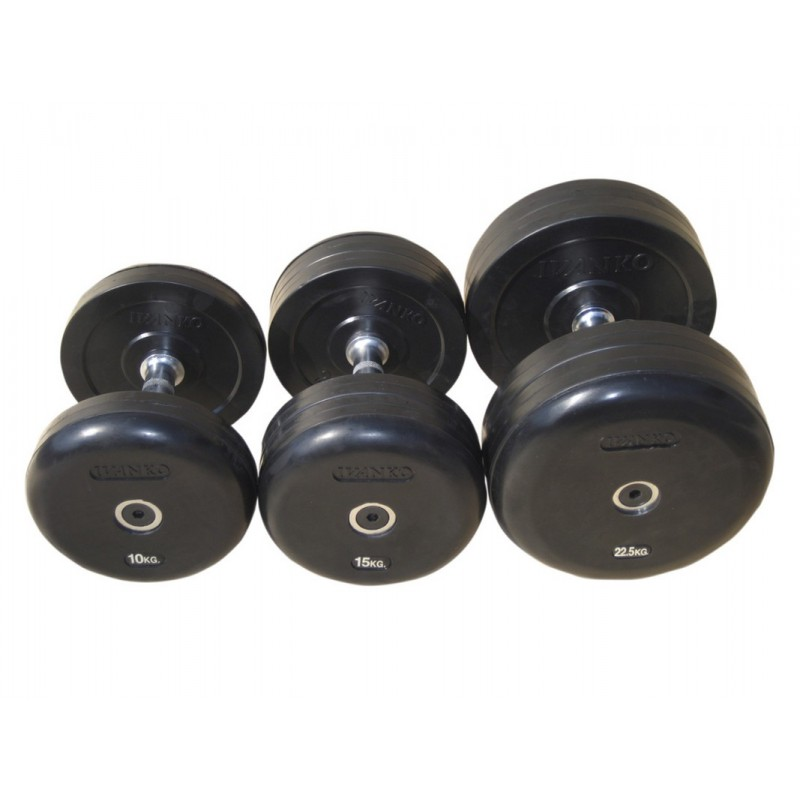 Гантель фиксированная обрезиненная Johns 30 кг 75074-30 чёрный