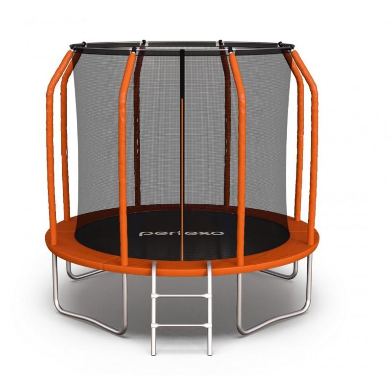 Батут perfexo, 14FT, 427 см с внутренней сеткой и лестницей Оранжевый