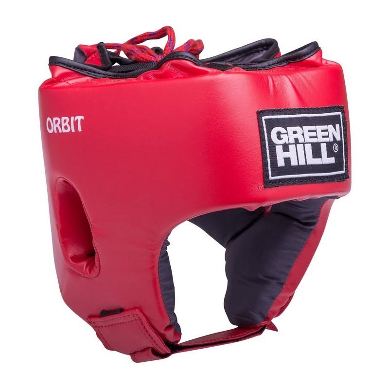 Шлем открытый Green Hill Orbit детский, кожзам HGO-4030 красный