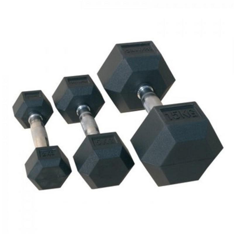 Гантель гексагональная обрезиненная Johns 22,5 кг 72014-22,5 чёрный