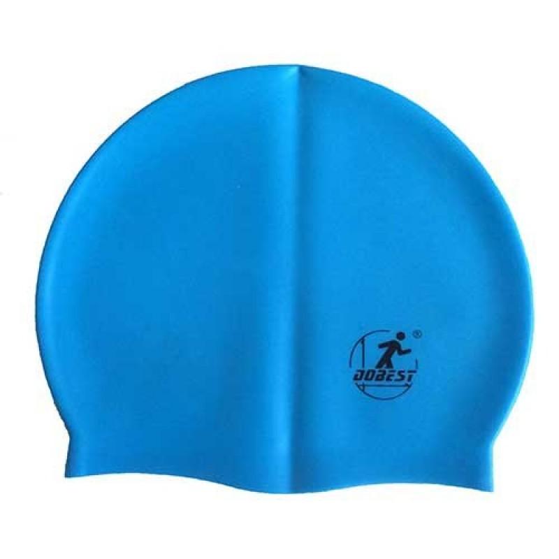 Шапочка для плавания Dobest силиконовая массажная XA20 голубая