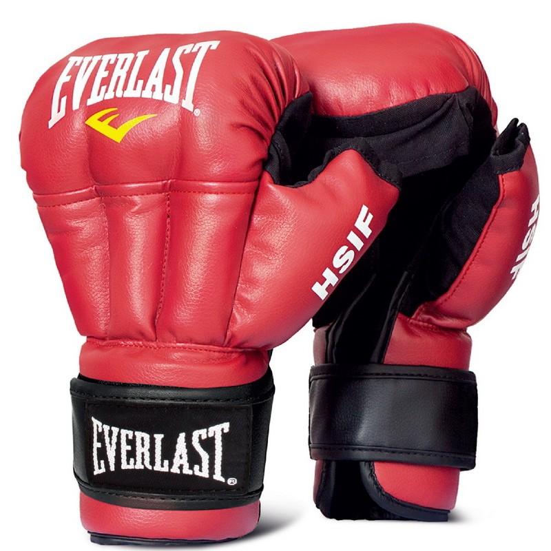Перчатки для рукопашного боя Everlast HSIF Leather, красные 12 oz RF5112