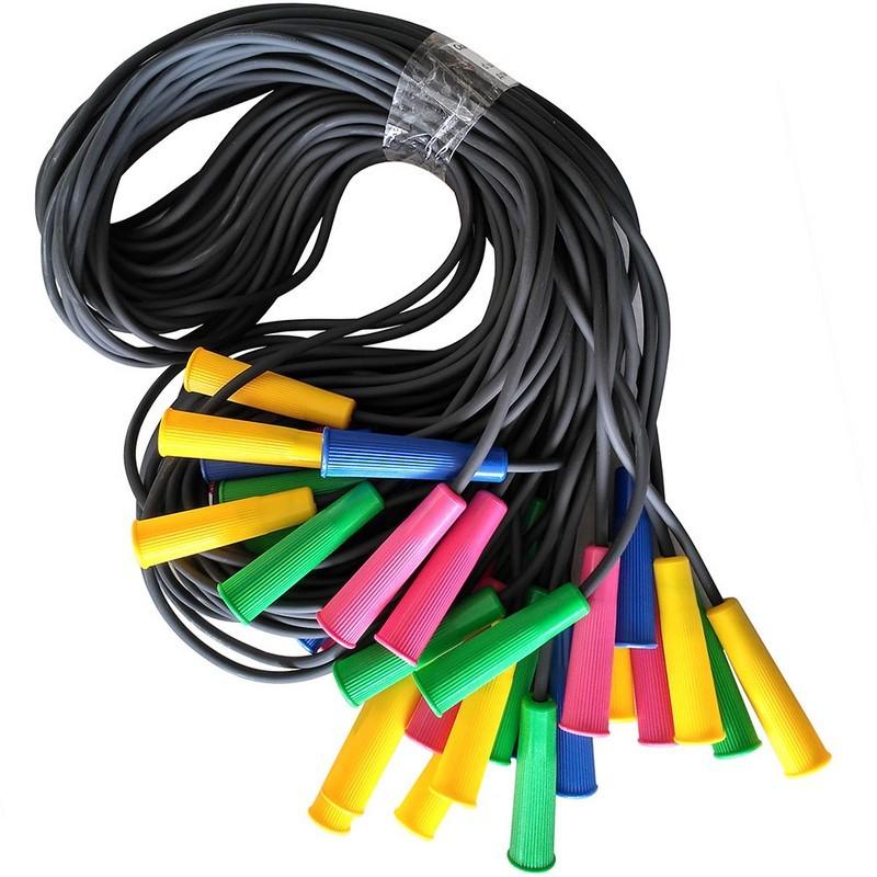 Скакалка l3 м полнотелый резиновый шнур d-7 мм., ручки пластик SKA-307