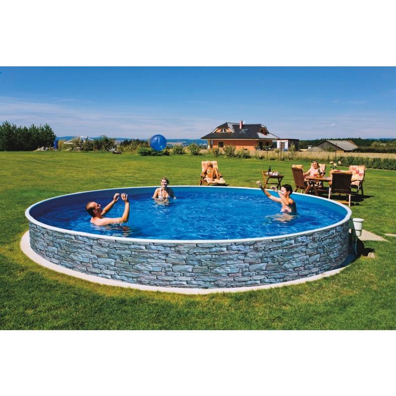 Морозоустойчивый бассейн Azuro Stone круглый 4х1,2 м Basic