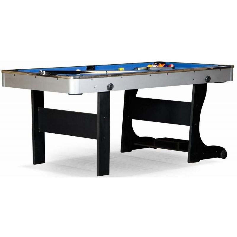 Бильярдный стол для пула Team I 6 ф ЛДСП 55.909.06.1 черный, cкладной