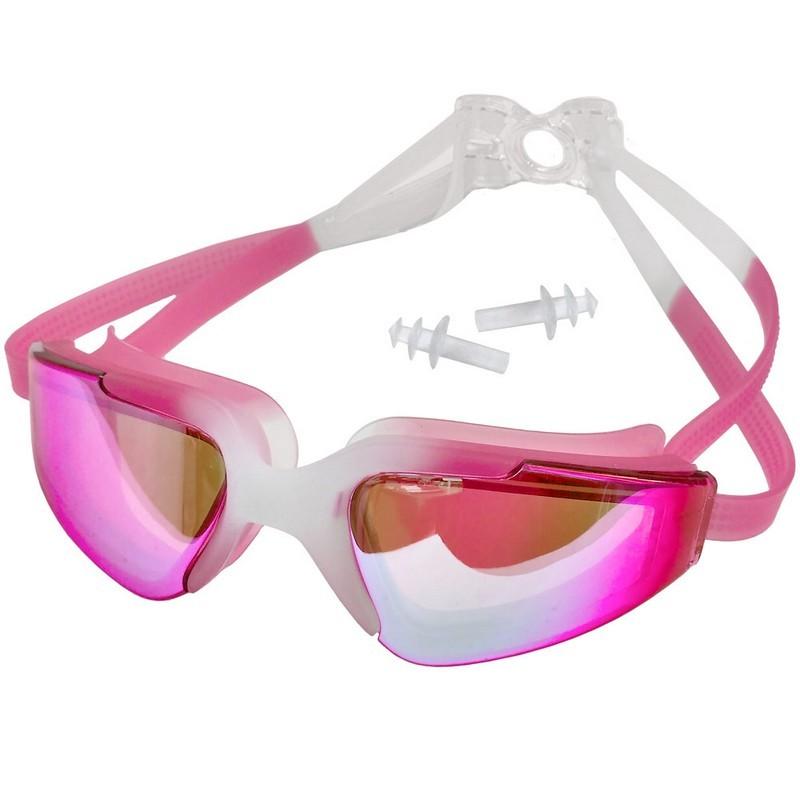 Очки для плавания взрослые с берушами C33452-2 розовые