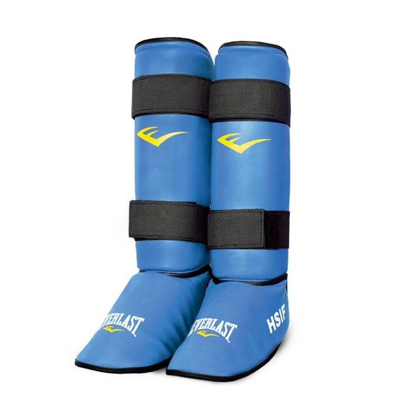 Защита голени и стопы для рук. боя Everlast HSIF PU, синяя