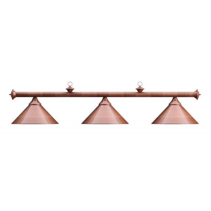 Лампа на три плафона Elegance d35 см 75.028.03.0 бронзовая штанга, бронзовый плафон