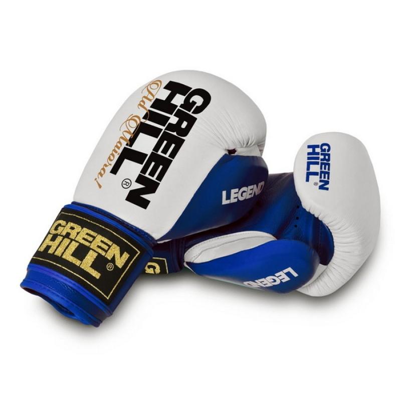 Боксерские перчатки Green Hill Legend BGL-2246 сине-белые 10 oz