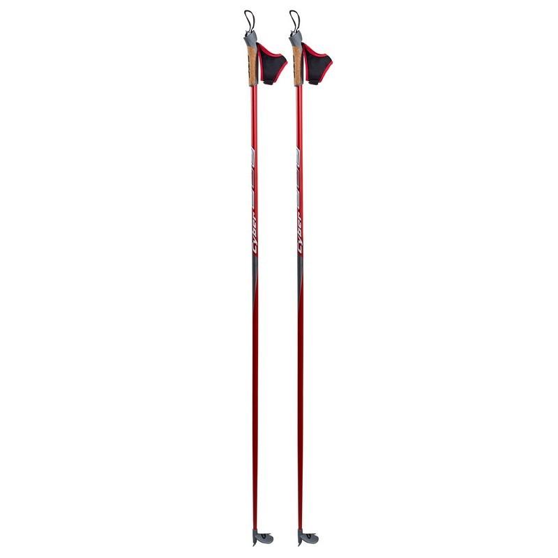Палки лыжные гоночные STC Cyber  60% карбон, 40% стекловолокно, пробковая ручка