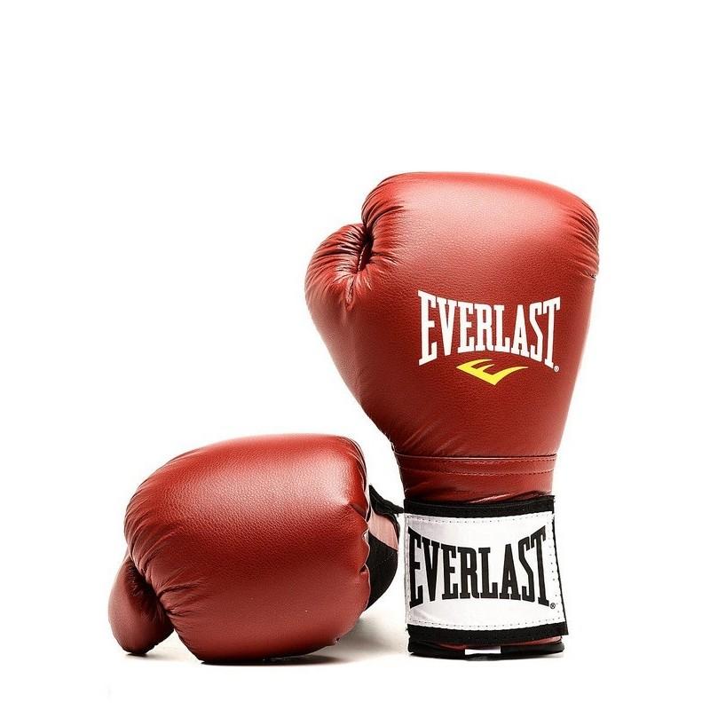 Перчатки тренировочные на липучке Everlast 10oz 141000U красный