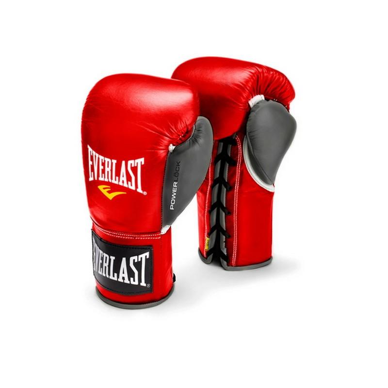 Перчатки боевые Everlast Powerlock 10oz XL красный/серый 27111070000