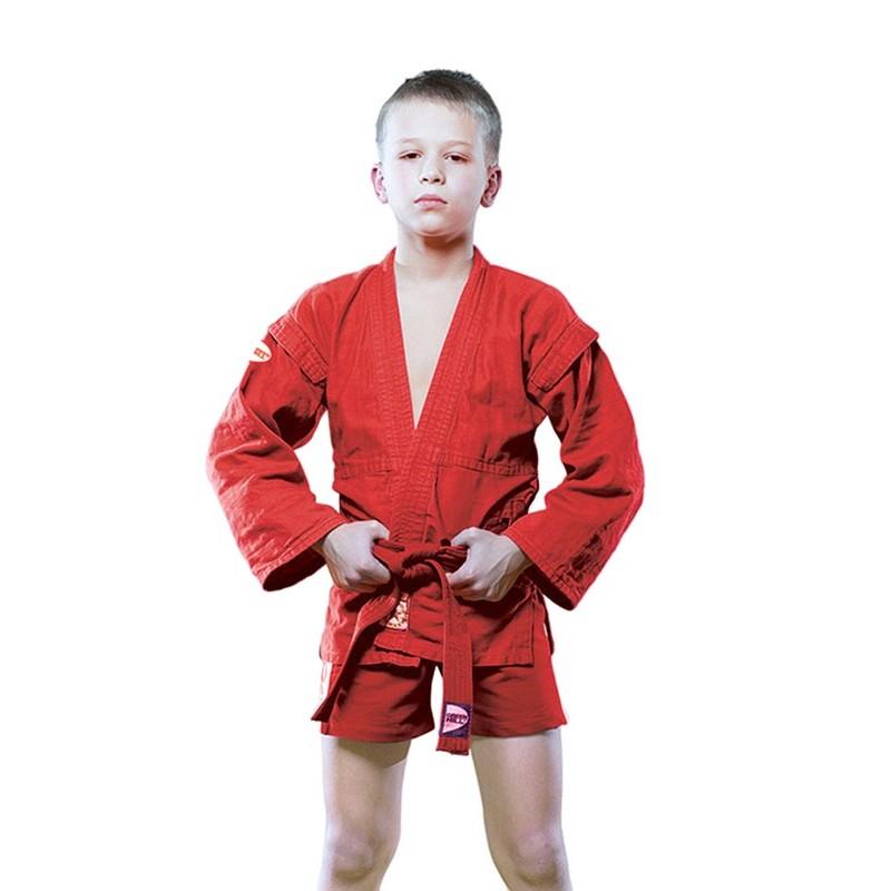 Куртка для самбо Green Hill Junior SCJ-2201, красный
