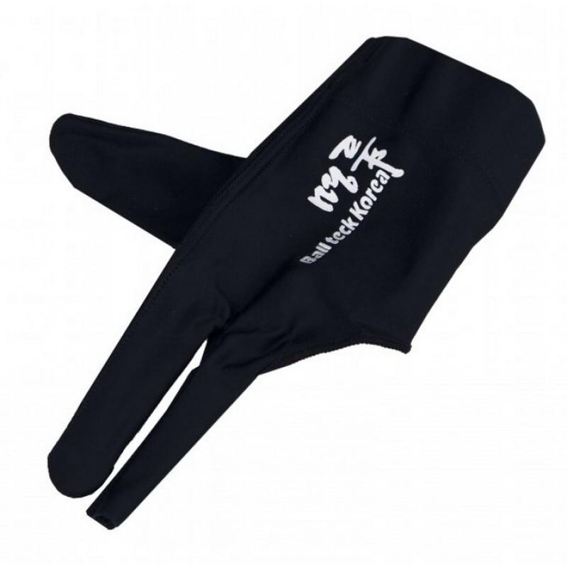 Перчатка бильярдная Ball Teck MFO (черная, вставка замша), защита от скольжения 45.251.03.0
